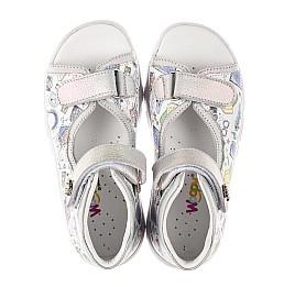 Детские босоножки Woopy Fashion белые для девочек натуральная кожа размер 24-37 (8058) Фото 5