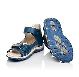 Детские босоножки Woopy Fashion синие для мальчиков натуральная кожа размер 22-37 (8061) Фото 2