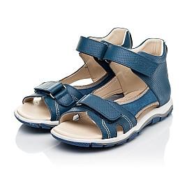 Детские босоножки Woopy Fashion синие для мальчиков натуральная кожа размер 22-37 (8061) Фото 3
