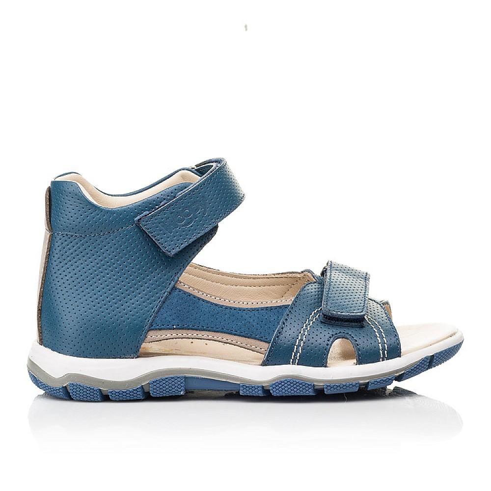 Детские босоножки Woopy Fashion синие для мальчиков натуральная кожа размер 22-37 (8061) Фото 4