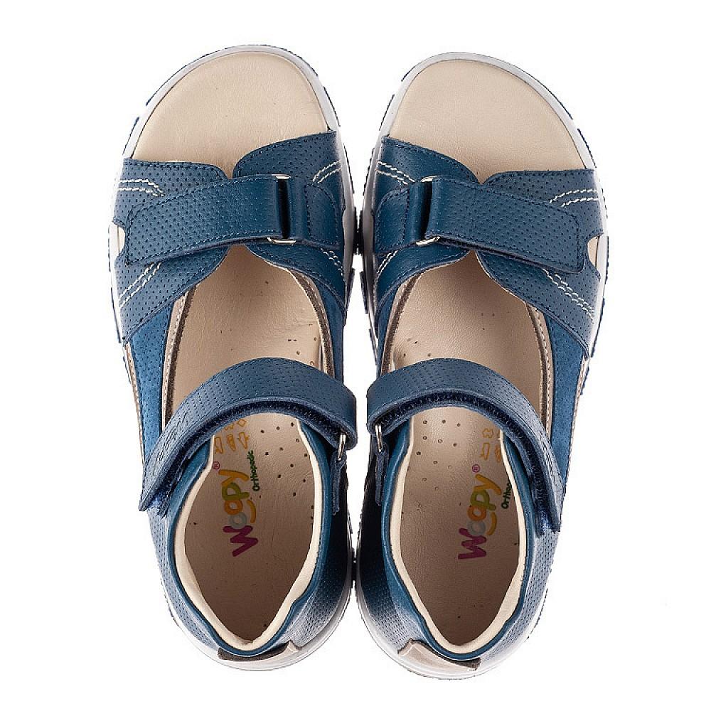 Детские босоножки Woopy Fashion синие для мальчиков натуральная кожа размер 22-37 (8061) Фото 5