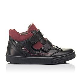 Детские демисезонные ботинки Woopy Fashion черные для мальчиков натуральная кожа размер 21-30 (8062) Фото 4