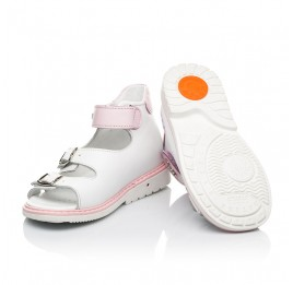 Детские босоножки Woopy Orthopedic белые для девочек натуральная кожа размер 20-33 (8063) Фото 2