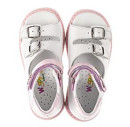 Детские босоножки Woopy Orthopedic белые для девочек натуральная кожа размер 20-33 (8063) Фото 5
