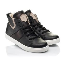 Детские демисезонные ботинки (подкладка кожа) Woopy Fashion черные для мальчиков натуральная кожа размер 31-40 (8064) Фото 1