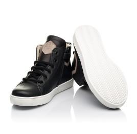 Детские демисезонные ботинки (подкладка кожа) Woopy Fashion черные для мальчиков натуральная кожа размер 31-40 (8064) Фото 2