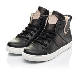 Детские демисезонные ботинки (подкладка кожа) Woopy Fashion черные для мальчиков натуральная кожа размер 31-40 (8064) Фото 3