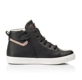 Детские демисезонные ботинки (подкладка кожа) Woopy Fashion черные для мальчиков натуральная кожа размер 31-40 (8064) Фото 5