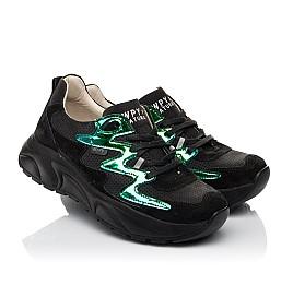 Детские кроссовки Woopy Fashion черные для девочек натуральный нубук размер 33-40 (8066) Фото 1