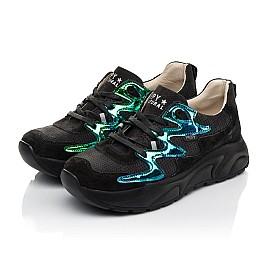 Детские кроссовки Woopy Fashion черные для девочек натуральный нубук размер 33-40 (8066) Фото 3