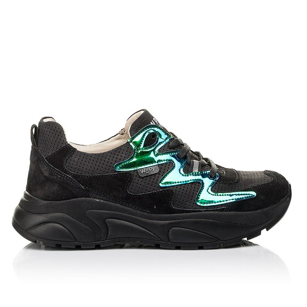Детские кроссовки Woopy Fashion черные для девочек натуральный нубук размер 31-40 (8066) Фото 4