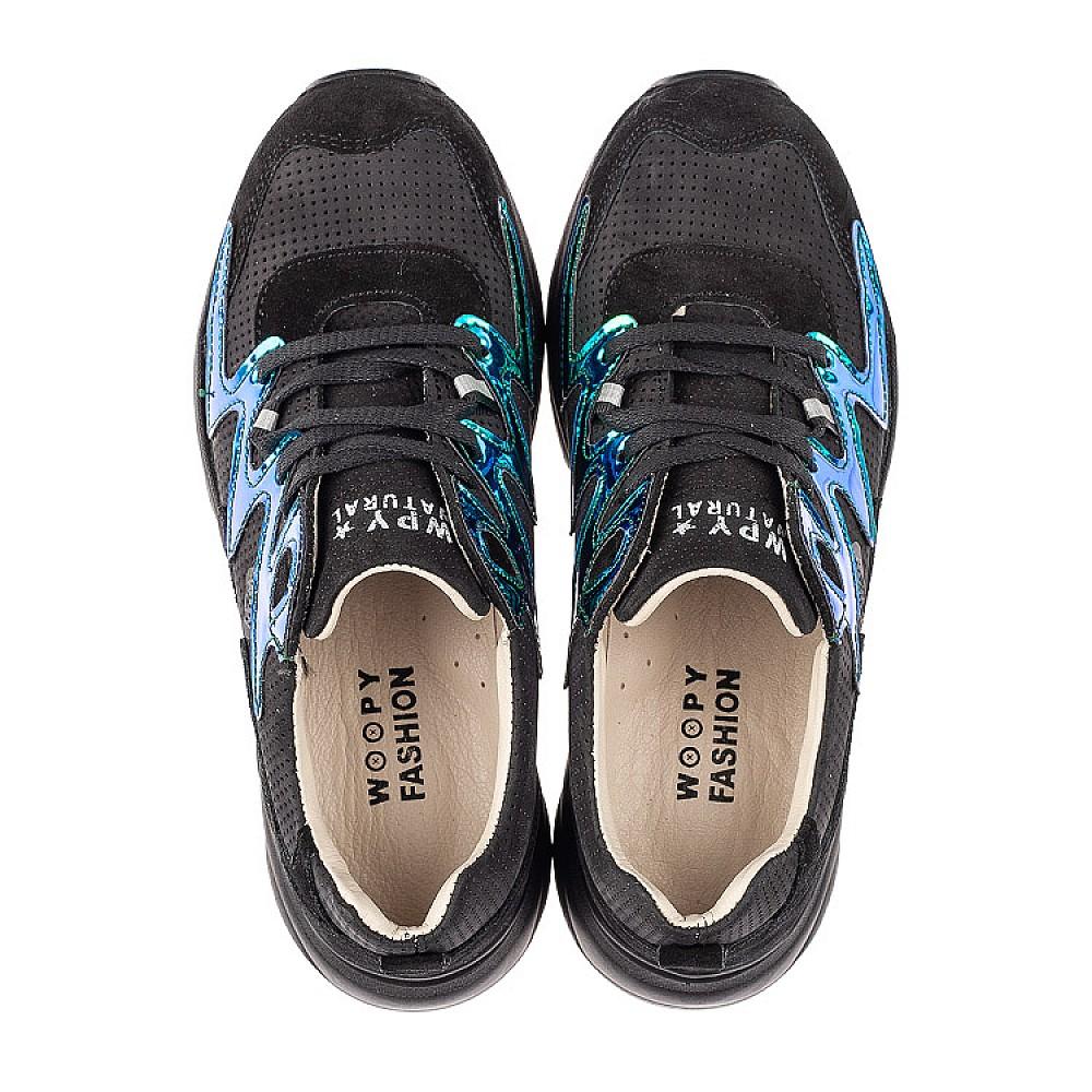 Детские кроссовки Woopy Fashion черные для девочек натуральный нубук размер 31-40 (8066) Фото 5