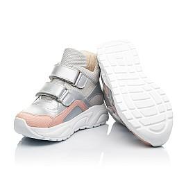 Детские демисезонные ботинки (подкладка кожа) Woopy Fashion серебряные для девочек современный текстиль, натуральная кожа размер 23-40 (8068) Фото 2