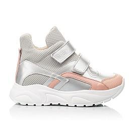 Детские демисезонные ботинки (подкладка кожа) Woopy Fashion серебряные для девочек современный текстиль, натуральная кожа размер 23-40 (8068) Фото 4