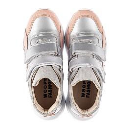 Детские демисезонные ботинки (подкладка кожа) Woopy Fashion серебряные для девочек современный текстиль, натуральная кожа размер 23-40 (8068) Фото 5