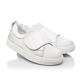 Детские кеды Woopy Fashion белые для девочек натуральная кожа, искусственный материал  размер 21-37 (8069) Фото 1