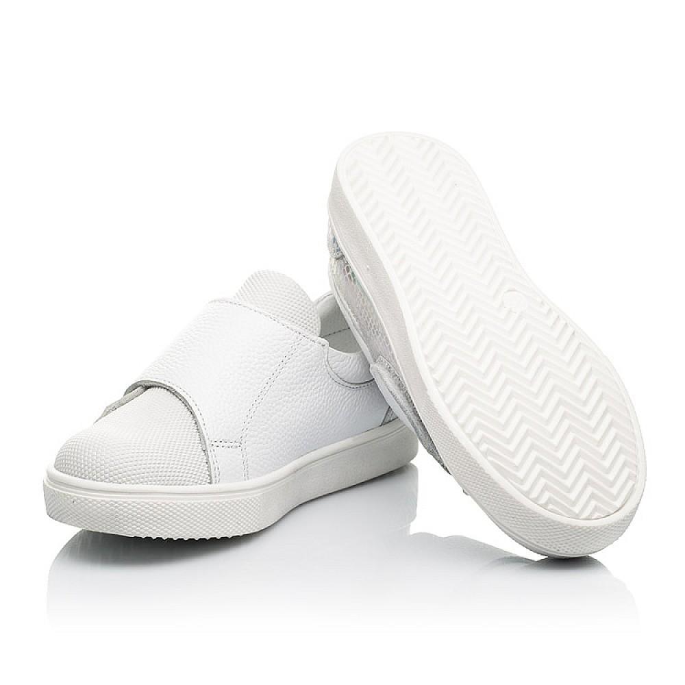 Детские кеды Woopy Fashion белые для девочек натуральная кожа, искусственный материал размер 21-37 (8069) Фото 2