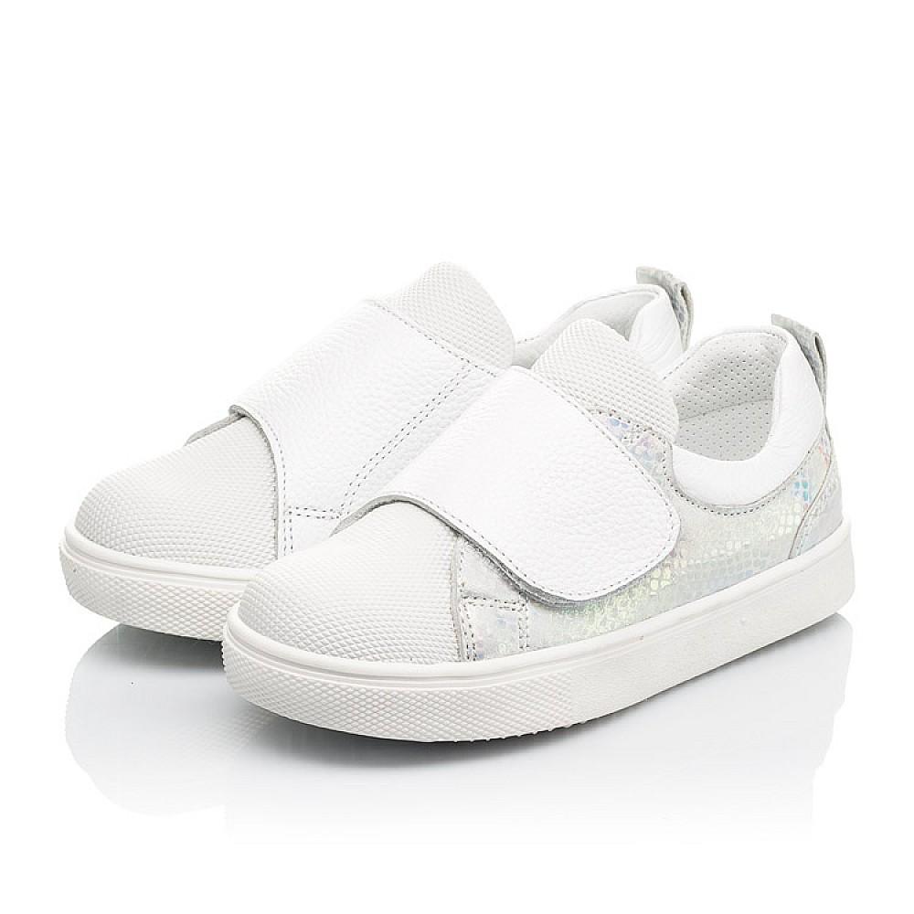 Детские кеды Woopy Fashion белые для девочек натуральная кожа, искусственный материал размер 21-37 (8069) Фото 3