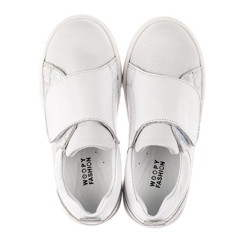 Детские кеды Woopy Fashion белые для девочек натуральная кожа, искусственный материал размер 21-37 (8069) Фото 5