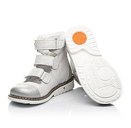 Детские ортопедические туфли (с высоким берцем) Woopy Orthopedic серебряные для девочек натуральный нубук размер 19-33 (8072) Фото 2