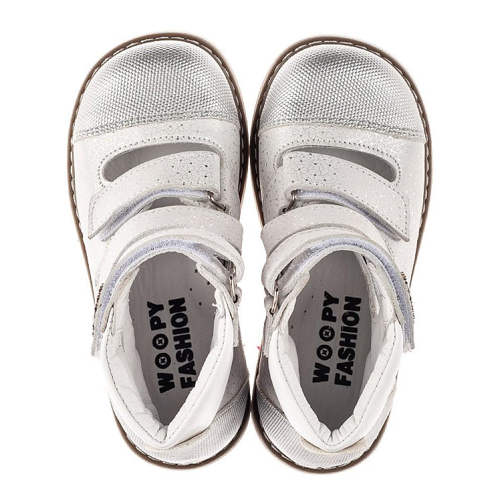 Детские ортопедические туфли (с высоким берцем) Woopy Orthopedic серебряные для девочек натуральный нубук размер 19-33 (8072) Фото 5