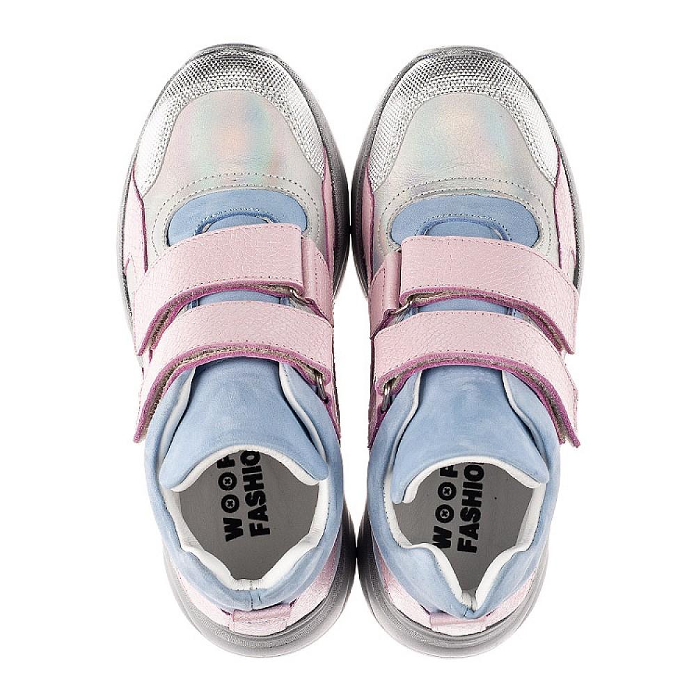Детские демисезонные ботинки (подкладка кожа) Woopy Fashion разноцветные для девочек натуральный нубук и кожа размер 21-39 (8074) Фото 4