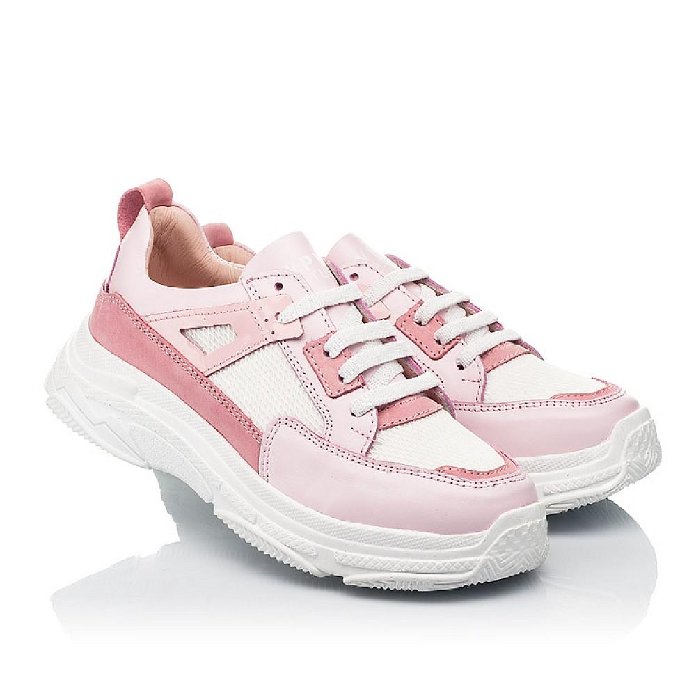 Детские кроссовки Woopy Fashion розовые для девочек натуральная кожа, искусственный материал размер 32-40 (8075) Фото 1