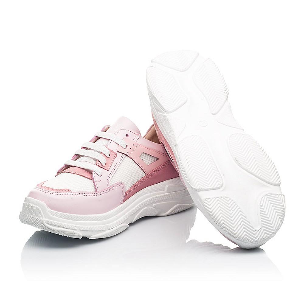Детские кроссовки Woopy Fashion розовые для девочек натуральная кожа, искусственный материал размер 32-40 (8075) Фото 2