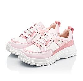 Детские кроссовки Woopy Fashion розовые для девочек натуральная кожа, искусственный материал  размер 32-40 (8075) Фото 3