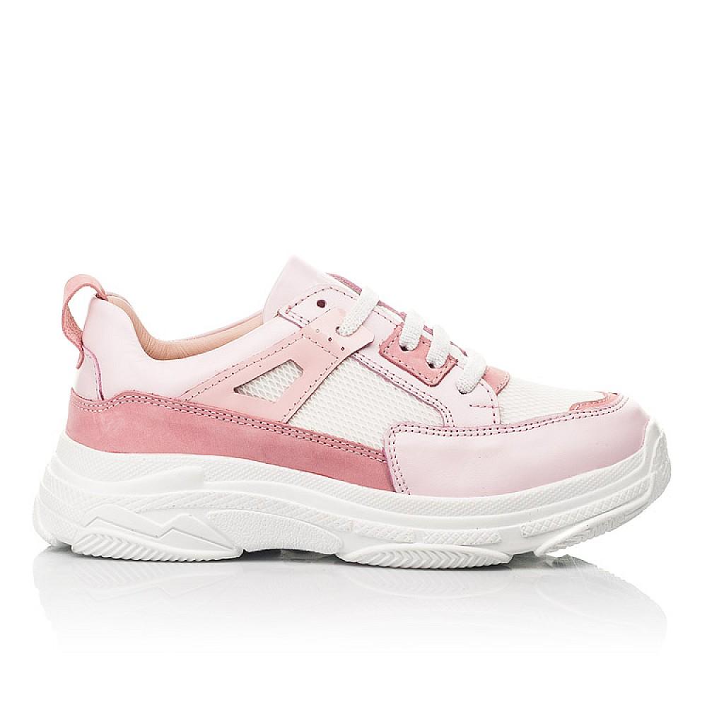 Детские кроссовки Woopy Fashion розовые для девочек натуральная кожа, искусственный материал размер 32-40 (8075) Фото 4