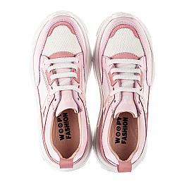 Детские кроссовки Woopy Fashion розовые для девочек натуральная кожа, искусственный материал  размер 32-40 (8075) Фото 5