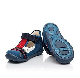 Детские закрытые босоножки Woopy Fashion синие для мальчиков натуральный нубук и кожа размер 19-25 (8078) Фото 2