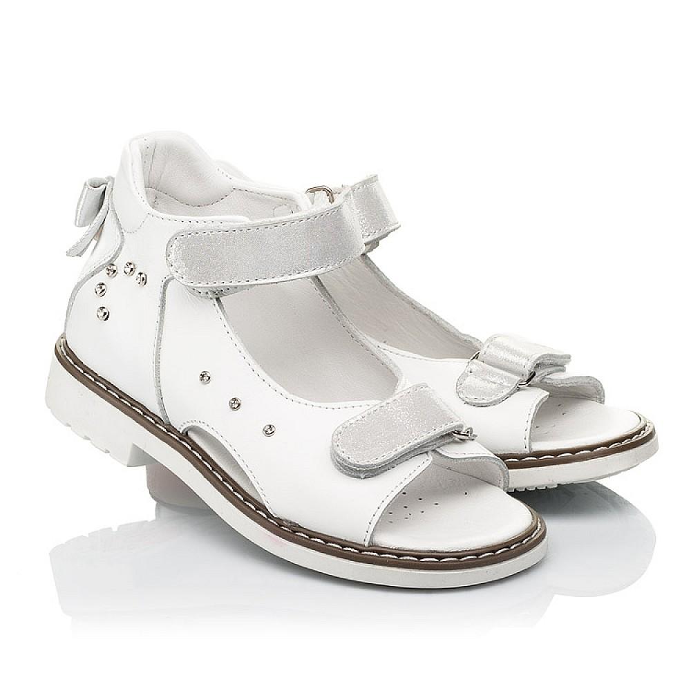 Детские босоножки Woopy Orthopedic белые для девочек натуральная кожа размер 23-36 (8079) Фото 1