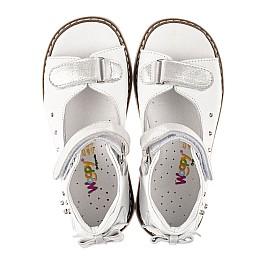 Детские босоножки Woopy Orthopedic белые для девочек натуральная кожа размер 23-36 (8079) Фото 5