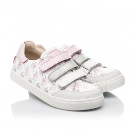 Детские кеды Woopy Fashion белые для девочек натуральная кожа размер 20-36 (8080) Фото 1