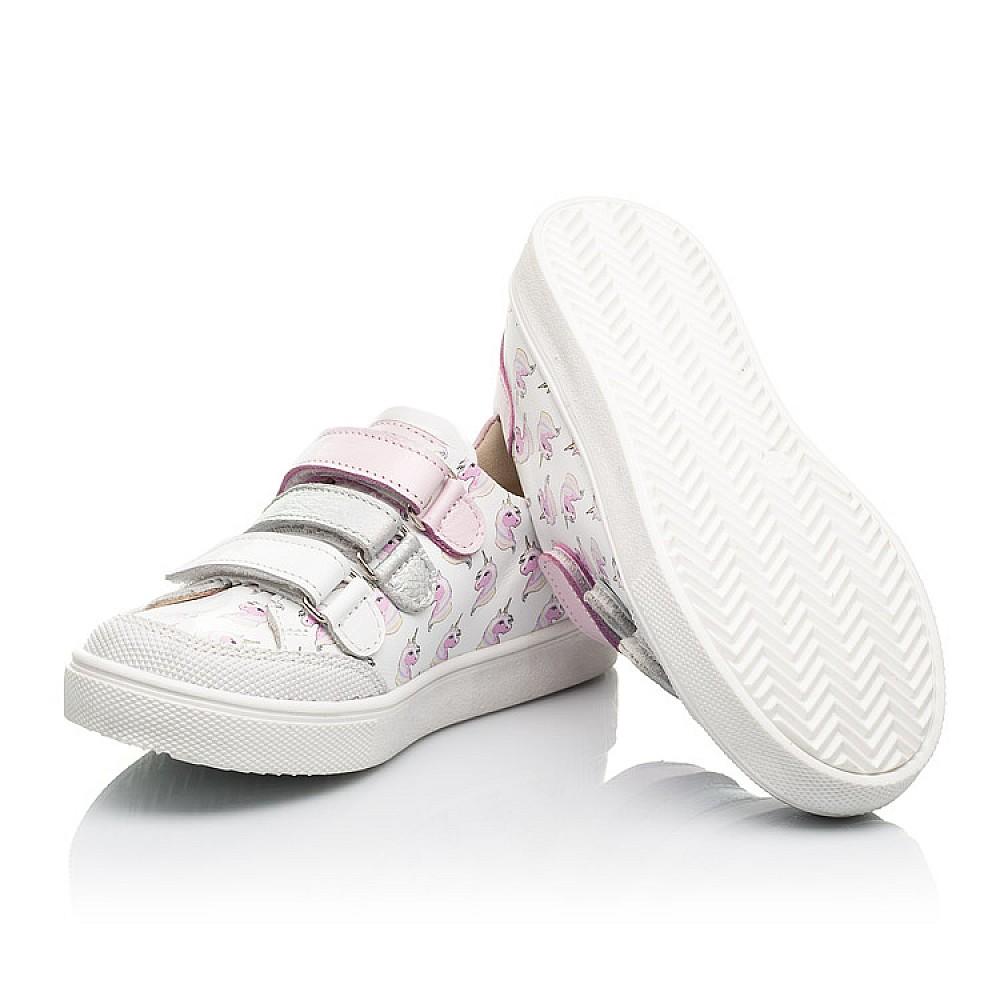 Детские кеды Woopy Fashion белые для девочек натуральная кожа размер 20-36 (8080) Фото 2