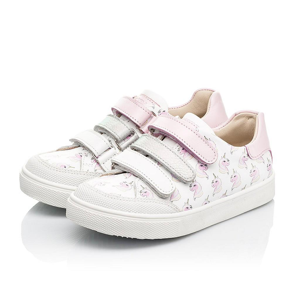 Детские кеды Woopy Fashion белые для девочек натуральная кожа размер 20-36 (8080) Фото 3