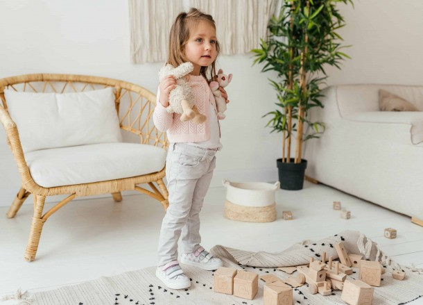Девочка обута в детские кеды Woopy Fashion белые (8080) Фото 2