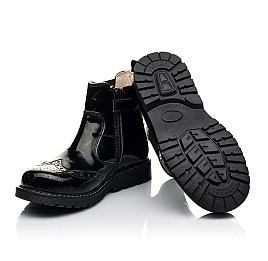 Детские демисезонные ботинки (подкладка кожа) Woopy Orthopedic черные для девочек лаковая кожа размер 25-40 (8081) Фото 2