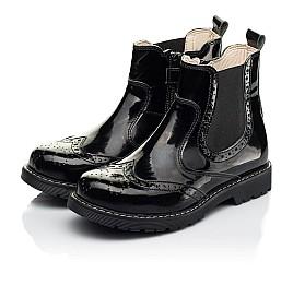 Детские демисезонные ботинки (подкладка кожа) Woopy Orthopedic черные для девочек лаковая кожа размер 25-40 (8081) Фото 3