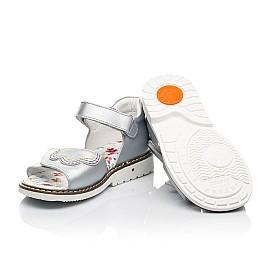 Детские босоножки Woopy Orthopedic серебряные для девочек натуральная кожа размер 18-33 (8083) Фото 2