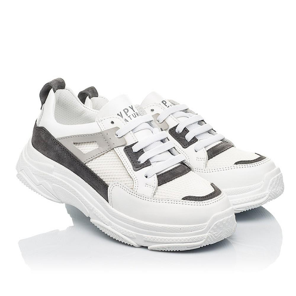 Детские кроссовки Woopy Fashion белые для девочек натуральная кожа, искусственный материал размер 31-40 (8086) Фото 1