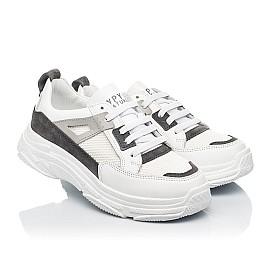 Детские кроссовки Woopy Fashion белые для девочек натуральная кожа, искусственный материал  размер 32-40 (8086) Фото 1