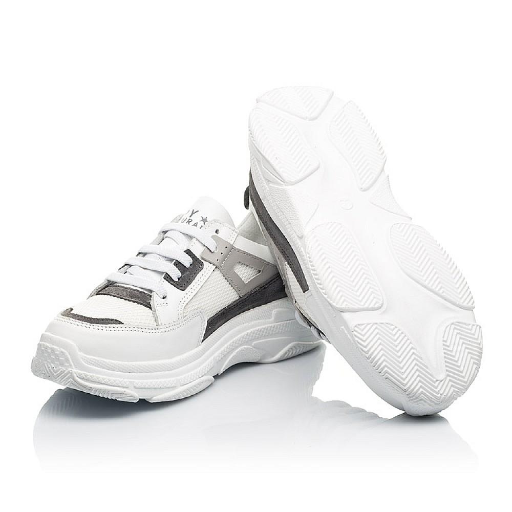 Детские кроссовки Woopy Fashion белые для девочек натуральная кожа, искусственный материал размер 31-40 (8086) Фото 2