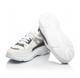 Детские кроссовки Woopy Fashion белые для девочек натуральная кожа, искусственный материал  размер 32-40 (8086) Фото 2