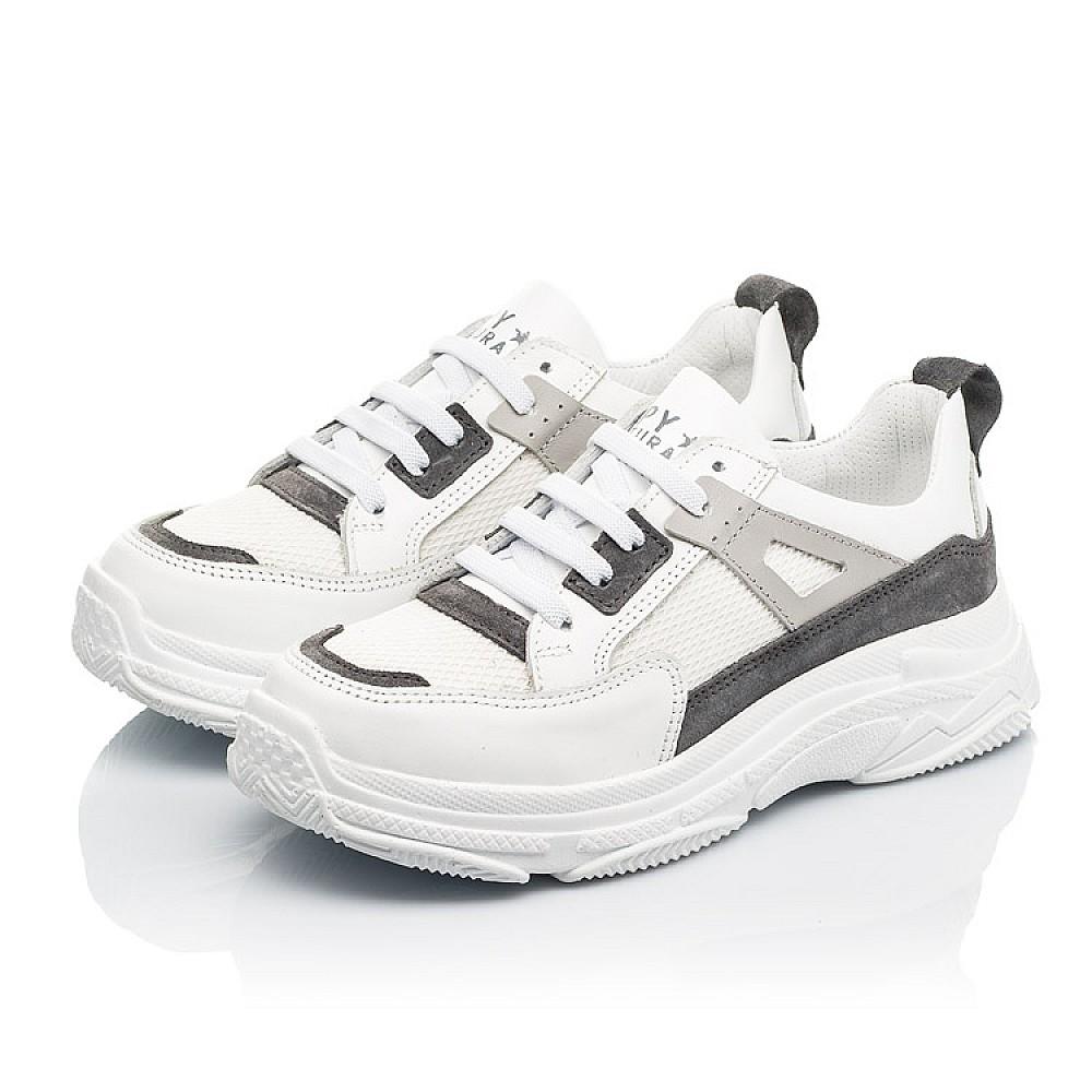 Детские кроссовки Woopy Fashion белые для девочек натуральная кожа, искусственный материал размер 31-40 (8086) Фото 3