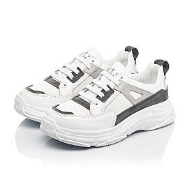 Детские кроссовки Woopy Fashion белые для девочек натуральная кожа, искусственный материал  размер 32-40 (8086) Фото 3