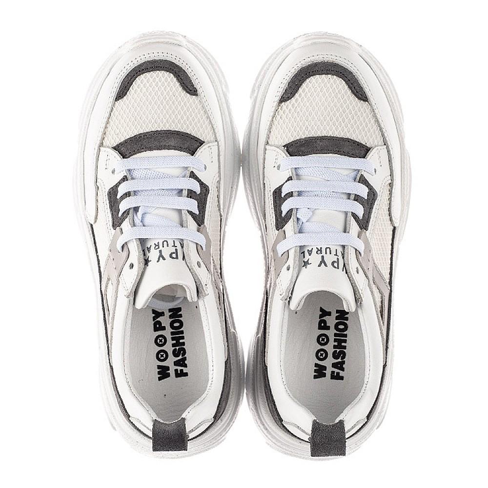 Детские кроссовки Woopy Fashion белые для девочек натуральная кожа, искусственный материал размер 31-40 (8086) Фото 5