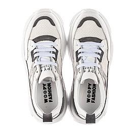 Детские кроссовки Woopy Fashion белые для девочек натуральная кожа, искусственный материал  размер 32-40 (8086) Фото 5