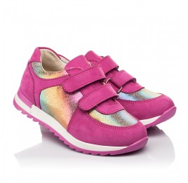 Детские кроссовки Woopy Fashion малиновые для девочек натуральный нубук размер 20-30 (8089) Фото 1